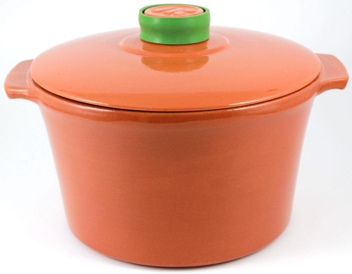 Кастрюля Ломоносовская керамика 2 л, керамическая крышка. Цвет: терракот. 1КТт-21КТт-2