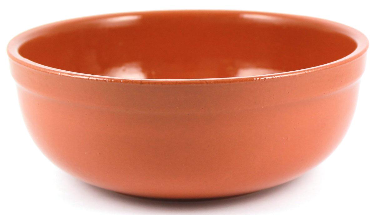 Салатник итальянский Ломоносовская керамика, 1 л. Цвет: терракот. Диаметр: 15 см. 1СИ3-1т1СИ3-1т