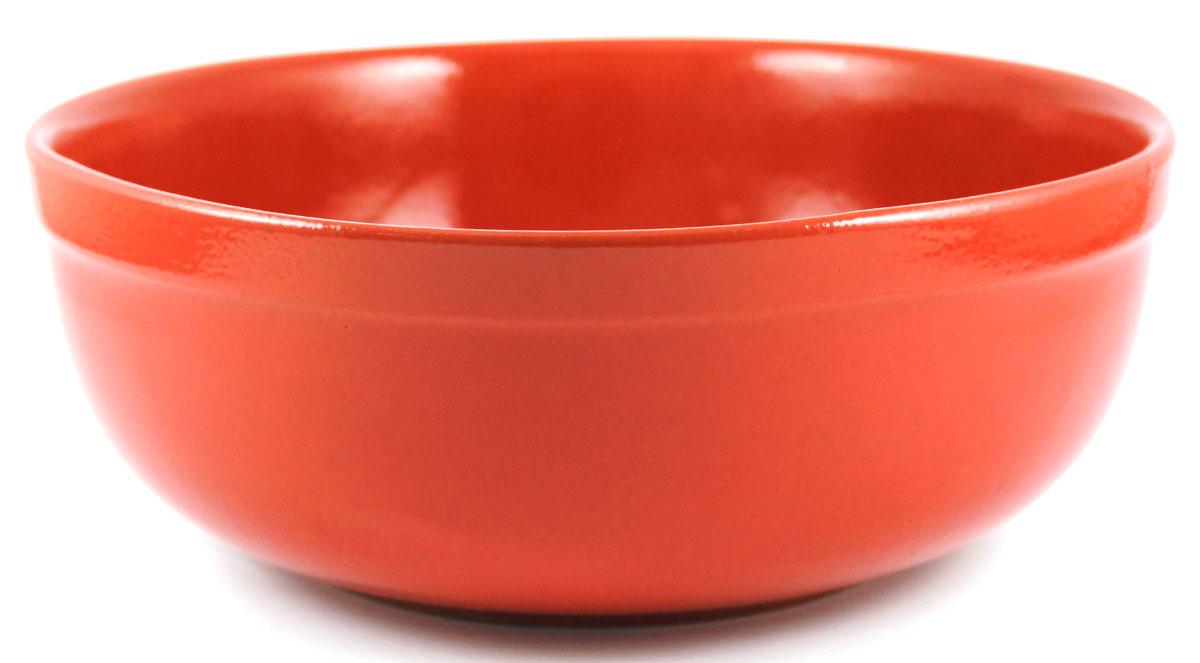 Салатник итальянский Ломоносовская керамика, 1 л. Цвет: красный. Диаметр: 15 см. 1СИ3-1кр1СИ3-1кр
