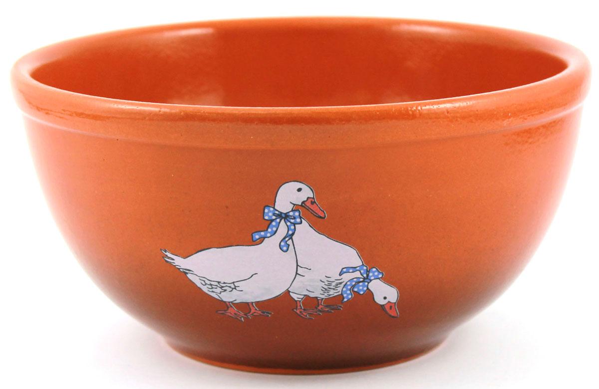 Салатник Ломоносовская керамика Гуси, 0,5 л. Диаметр: 14 см. 1СГ-11СГ-1