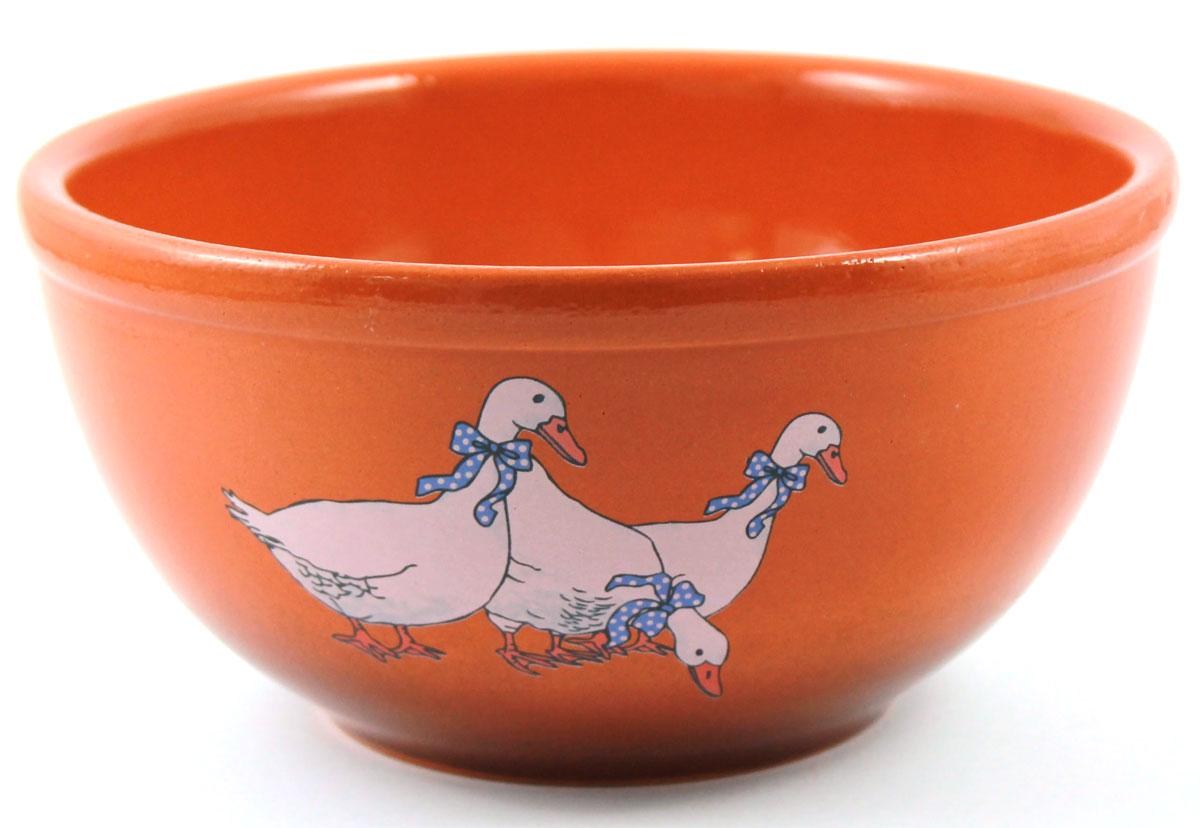 Салатник Ломоносовская керамика Гуси, 1 л. Диаметр: 18 см. 1СГ-21СГ-2