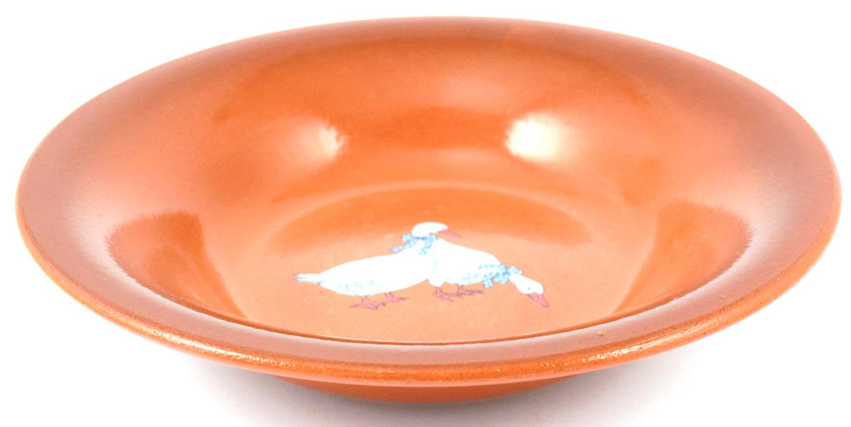 Тарелка суповая Ломоносовская керамика Гуси, 0,5 л. Диаметр: 22 см. 2ТГ-222ТГ-22