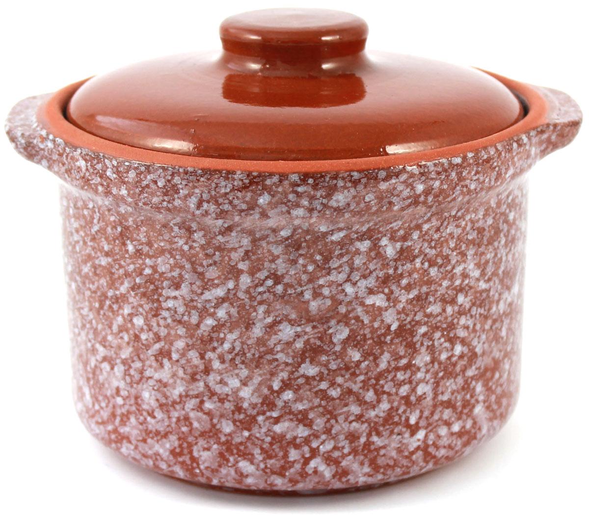 Горшок-сотейник Ломоносовская керамика, 0,6 л, мрамор. Цвет: коричневый. 1ГС3мк-41ГС3мк-4