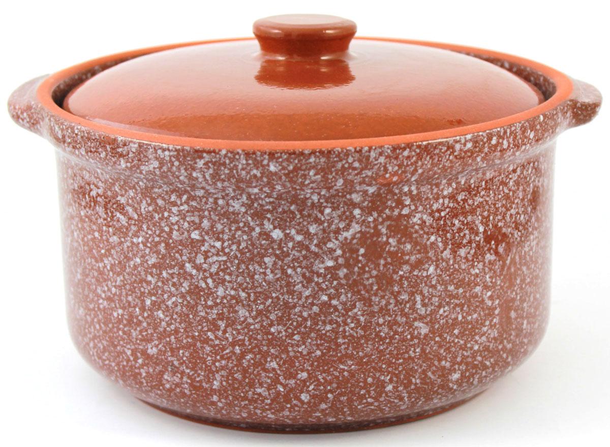 Горшок-сотейник Ломоносовская керамика, 1 л, мрамор. Цвет: коричневый. 1ГС3мк-21ГС3мк-2