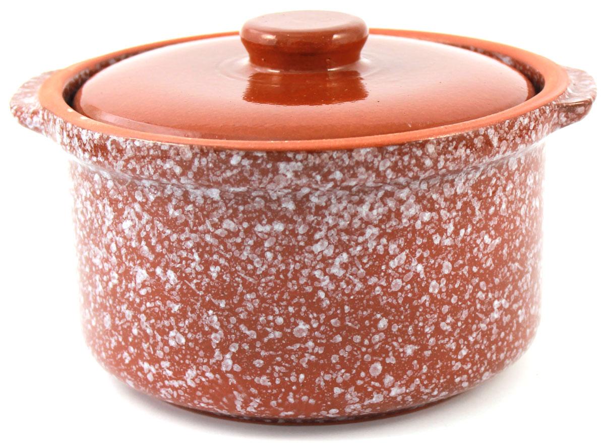Кастрюля керамическая Ломоносовская керамика с крышкой, цвет: коричневый мрамор, 400 мл1ГС3мк-1Кастрюля Ломоносовская керамика выполнена из высококачественной глины. Покрытие абсолютно безопасно для здоровья, не содержит вредных веществ. Кастрюля оснащена удобными боковыми ручками и керамической крышкой. Она плотно прилегает к краям посуды, сохраняя аромат блюд.