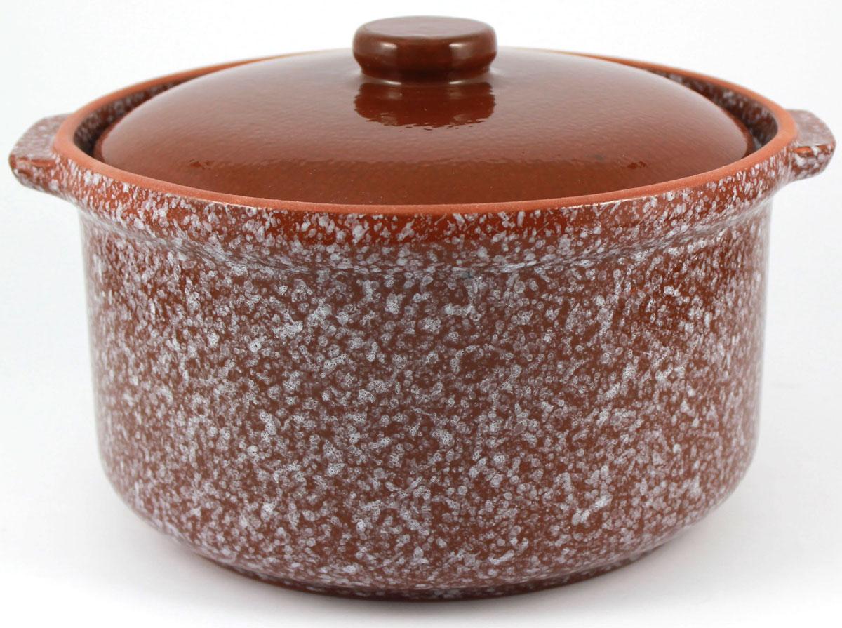 Кастрюля керамическая Ломоносовская керамика с крышкой, цвет: коричневый мрамор, 800 мл1ГС3мк-5Кастрюля Ломоносовская керамика выполнена из высококачественной глины. Покрытие абсолютно безопасно для здоровья, не содержит вредных веществ. Кастрюля оснащена удобными боковыми ручками и керамической крышкой. Она плотно прилегает к краям посуды, сохраняя аромат блюд.