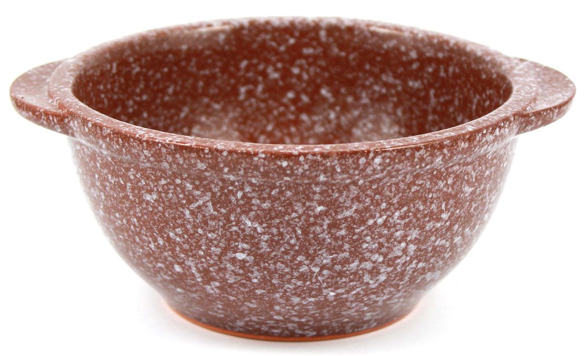Бульонница Ломоносовская керамика, 0,5 л, мрамор. Диаметр: 14 см. Цвет: коричневый. 1Бу3мк-11Бу3мк-1