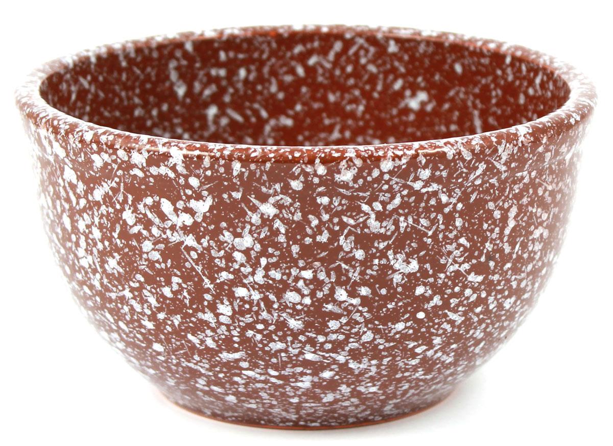 Салатник Ломоносовская керамика, 0,5 л, мрамор. Диаметр: 14 см. Цвет: коричневый. 1С3мк-11С3мк-1