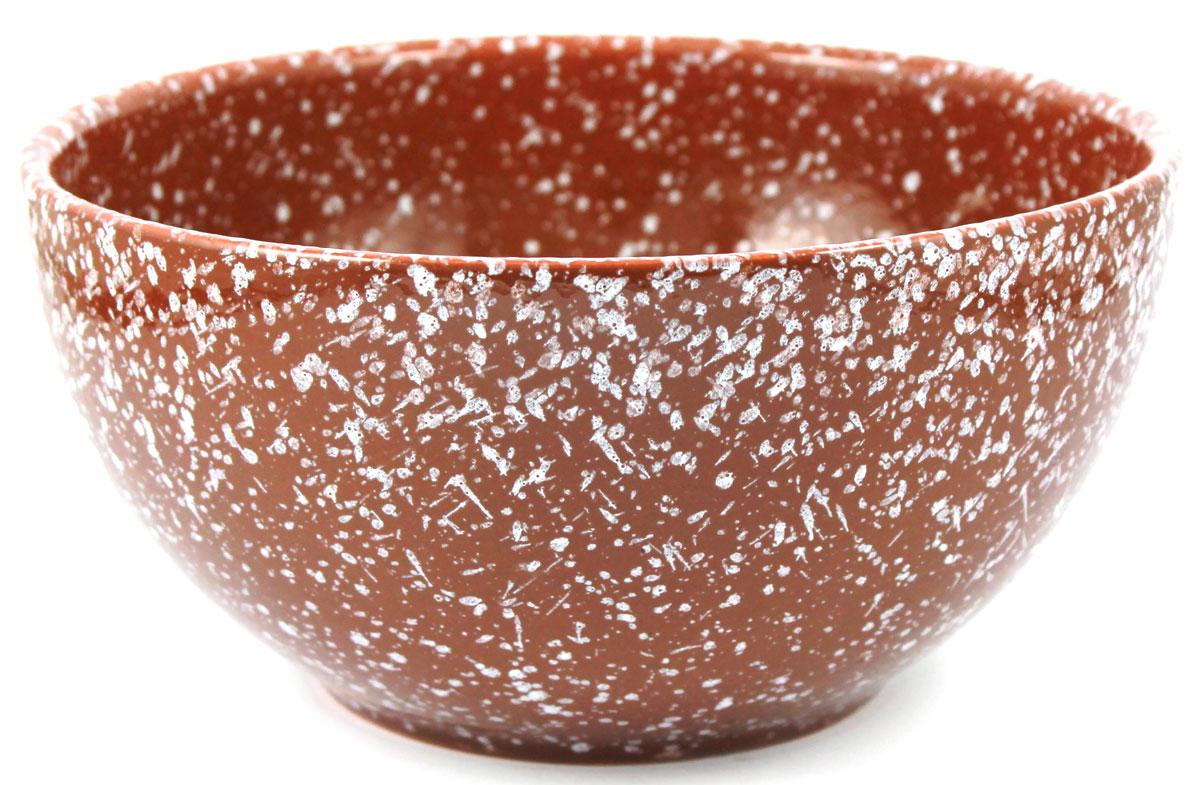 Салатник Ломоносовская керамика, 1,8 л, мрамор. Диаметр: 22 см. Цвет: коричневый. 1С3мк-31С3мк-3