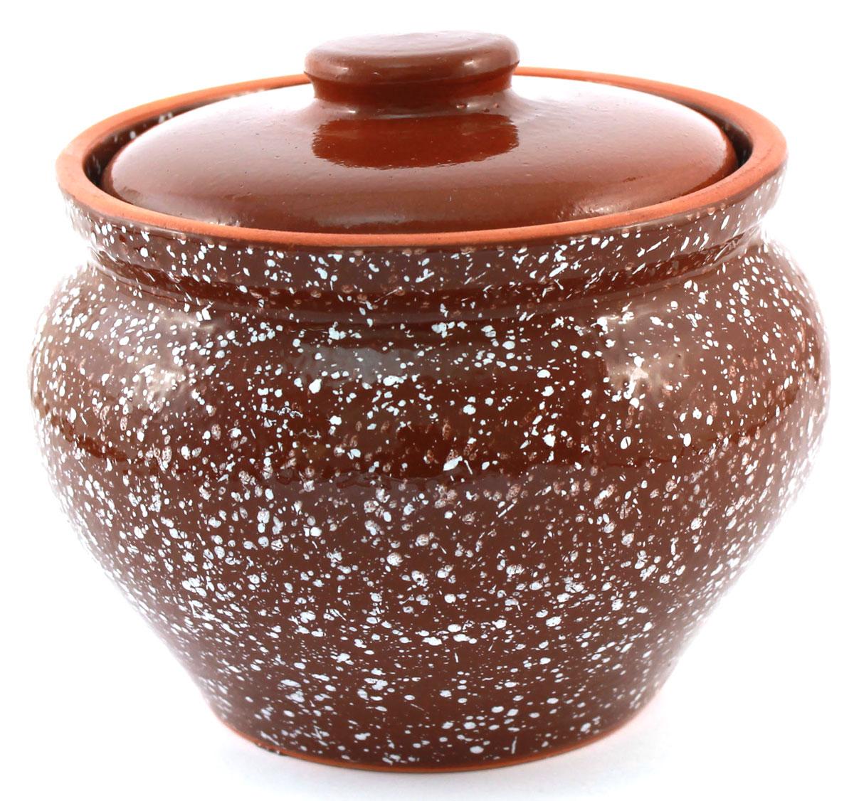 Горшок для запекания Ломоносовская керамика, с крышкой, цвет: коричневый мрамор, 800 мл1Г3мк-11Горшок для запекания Ломоносовская керамика с крышкой выполнен из высококачественной глины. Уникальные свойства глины и толстые стенки изделия обеспечивают эффект русской печи при приготовлении блюд. Блюда, приготовленные в керамическом горшке, получаются нежными и сочными. Вы сможете приготовить мясо, сделать томленые овощи и все это без капли масла. Это один из самых здоровых способов готовки.