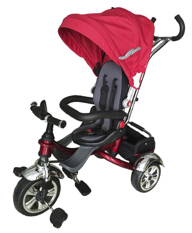 Pit Stop Велосипед детский трехколесный цвет красный MT-BCL0815002MT-BCL0815002Поворачивающееся на 360гр. мягкое сиденье. Барьер безопасности. Ремень безопасности. Регулируемый козырек. Ручка управления движением велосипеда. Корзина для игрушек. Складные подножки для ног. Цвет: красный.