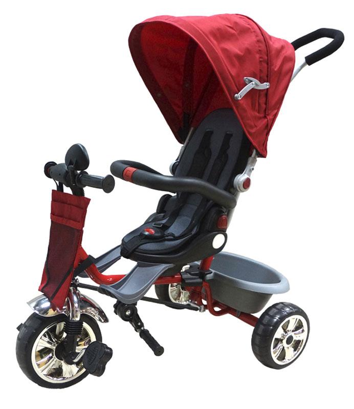 Pit Stop Велосипед детский трехколесный цвет красный MT-BCL0815004MT-BCL0815004Поворачивающееся на 360гр. мягкое сиденье. Ремень безопасности. Барьер безопасности. Регулируемый козырек. Ручка управления движением велосипеда. Пластмассовая корзина для игрушек. Сумочка для мелочей. Зеркало. Цвет: красный.