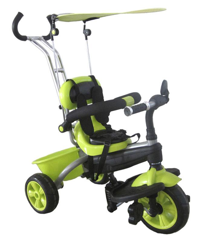 Pit Stop Велосипед детский трехколесный цвет светло-зеленый MT-BCL0815005MT-BCL0815005Яркий дизайн. Ручка управления движением. Подножки для ног (складные). Регулируемый козырёк-тент. Пластмассовая корзина для игрушек. Барьер безопасности. Ремень безопасности. Зеркало. Диски окрашены в цвет велосипеда. Рама - порошковое покрытие. Цвет: светло-зеленый.