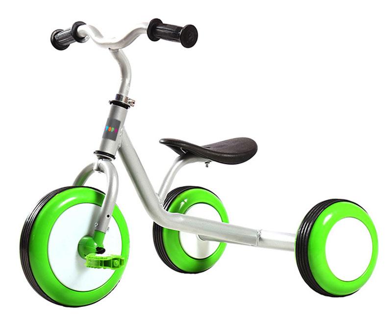 Pit Stop Велосипед детский трехколесный цвет белыйMT-BCL0815010Стильный дизайн с зелеными колесами.
