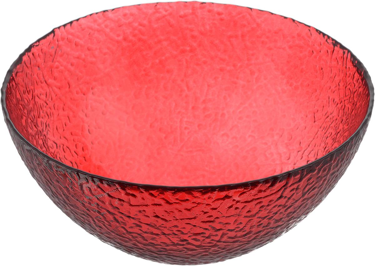 Салатник NiNaGlass Ажур, цвет: рубиновый, диаметр 20 см83-042-Ф200 РУБСалатник NiNaGlass Ажур выполнен из высококачественного стекла и декорирован рельефным узором. Идеален для сервировки салатов, овощей и фруктов, ягод, вторых блюд, гарниров и многого другого. Он отлично подойдет как для повседневных, так и для торжественных случаев. Такой салатник прекрасно впишется в интерьер вашей кухни и станет достойным дополнением к кухонному инвентарю. Диаметр салатника (по верхнему краю): 20 см. Высота стенки: 9 см.
