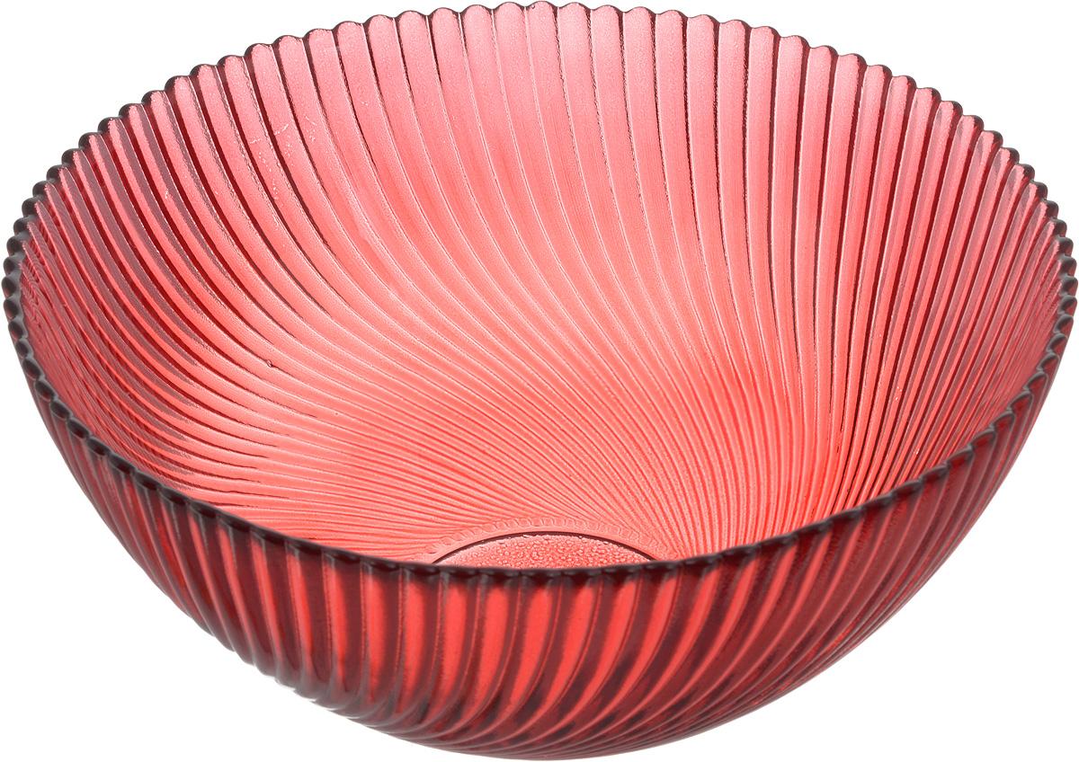 Салатник NiNaGlass Альтера, цвет: рубиновый, диаметр 20 см83-038-ф200 РУБСалатник NiNaGlass Альтера выполнен из высококачественного стекла. Внешние стенки декорированы красивым рельефным узором. Салатник идеален для сервировки салатов, овощей, ягод, сухофруктов, гарниров и многого другого. Он отлично подойдет как для повседневных, так и для торжественных случаев. Такой салатник прекрасно впишется в интерьер вашей кухни и станет достойным дополнением к кухонному инвентарю. Диаметр салатника (по верхнему краю): 20 см. Высота стенки: 9 см.