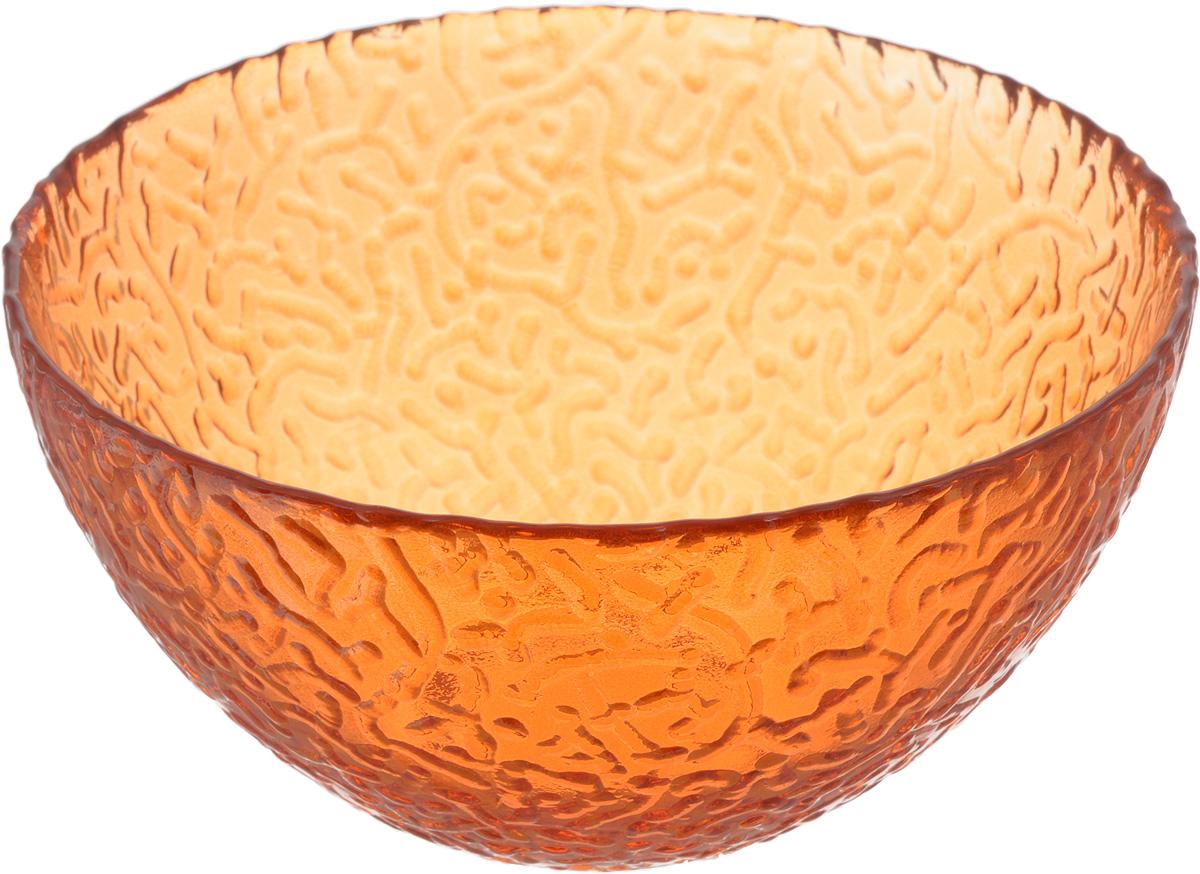 Салатник NiNaGlass Ажур, цвет: оранжевый, диаметр 16 см83-041-ф160 ОРЖСалатник NiNaGlass Ажур выполнен из высококачественного стекла и имеет рельефную внешнюю поверхность. Такой салатник украсит сервировку вашего стола и подчеркнет прекрасный вкус хозяйки, а также станет отличным подарком. Диаметр салатника (по верхнему краю): 16 см. Высота салатника: 8,5 см.