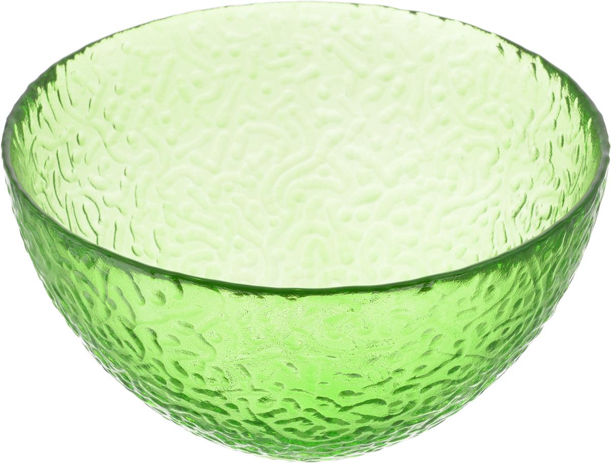 Салатник NiNaGlass Ажур, цвет: зеленый, диаметр 16 см83-041-Ф160 ЗЕЛСалатник NiNaGlass Ажур выполнен из высококачественного стекла и имеет рельефную внешнюю поверхность. Такой салатник украсит сервировку вашего стола и подчеркнет прекрасный вкус хозяйки, а также станет отличным подарком. Диаметр салатника (по верхнему краю): 16 см. Высота салатника: 8,5 см.