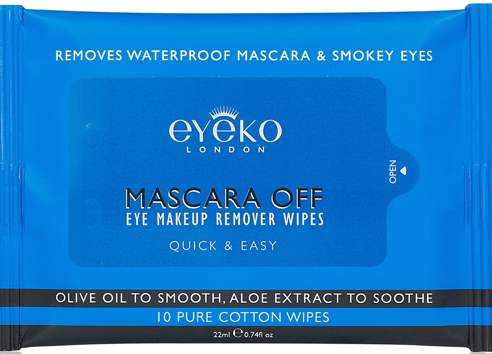 Eyeko Салфетки для снятия макияжа с глаз (1 упаковка - 10 штук)EAMOW0001Салфетки из 100% хлопка полностью снимают водостойкий макияж и даже самые густые «смоки», действуя мягко, быстро и эффективно. В состав входит растительный комплекс с оливковым маслом и экстрактом алоэ для ухода за нежной кожей вокруг глаз. Идеальны для путешествий и для того, чтобы просто бросить в сумочку и снимать макияж на ходу, смягчая и освежая кожу.