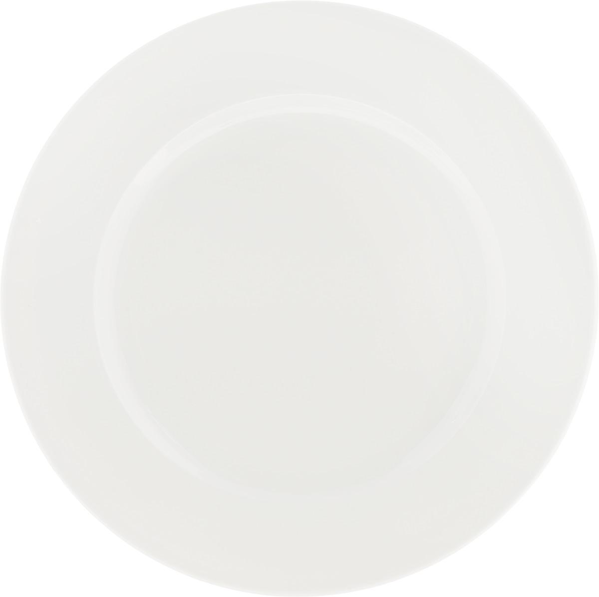Тарелка Ariane Прайм, диаметр 29 смAPRARN11029Оригинальная тарелка Ariane Прайм изготовлена из высококачественного фарфора с глазурованным покрытием. Изделие круглой формы идеально подходит для сервировки закусок и других блюд. Такая тарелка прекрасно впишется в интерьер вашей кухни и станет достойным дополнением к кухонному инвентарю. Можно мыть в посудомоечной машине и использовать в микроволновой печи. Диаметр тарелки (по верхнему краю): 29 см.