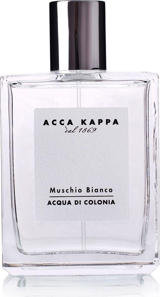 Acca Kappa Одеколон Белый Мускус 50 мл853281Фирменный аромат Acca Kappa в формате одеколона. Аромат Muschio Bianco окружает тело свежестью итальянской весны. Гармоничное сочетание сладких, чувственных нот, легкой древесности, амбры и мускуса. Элегантая композиция для мужчин и женщин, созданная из деликатных, утончённых натуральных ингредиентов. Cодержит эфирные масла лаванды и ягод можжевельника.