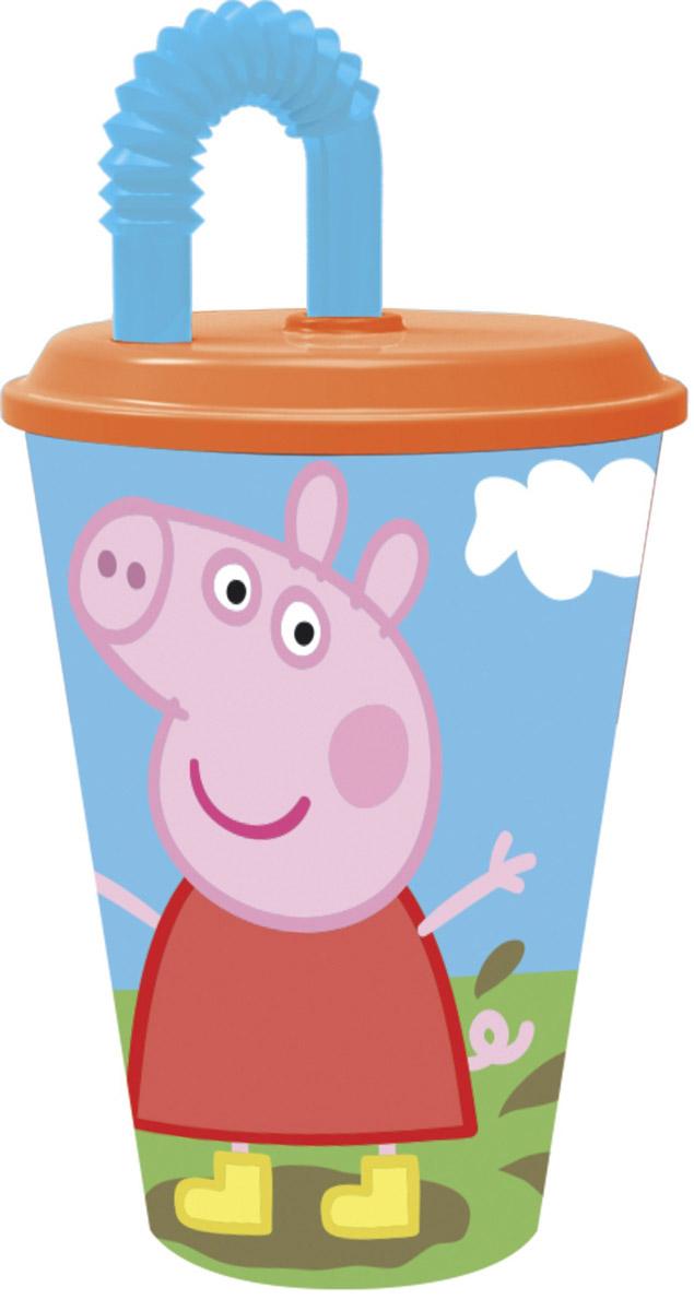 Peppa Pig Стакан детский с трубочкой Пеппа на полянке 450 мл52830_оранжевыйСтакан с крышкой и трубочкой Peppa Pig Пеппа на полянке - это удобный и практичный вариант для поездок, путешествий и активного отдыха для вас и вашего малыша. Стаканчик выполнен из прочного полипропилена и украшен ярким изображением главной героини мультфильма Свинка Пеппа. Такой стаканчик удобен тем, что его можно брать с собой куда угодно, не беспокоясь о том, это он может разбиться или поранить ребенка.