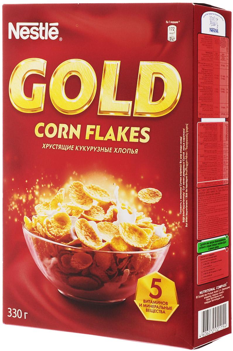 Nestle Gold Corn Flakes готовый завтрак, 330 г12183930Готовый завтрак Nestle Gold Corn Flakes - это отличный завтрак для всей семьи. Хрустящие кукурузные хлопья дополнительно обогащены комплексом витаминов. Каждая порция готового завтрака более чем на 15% удовлетворяет рекомендуемую суточную потребность в витаминах B2, B3 (ниацине), B5 (пантотеновой кислоте), B6 и B9 (фолиевой кислоте). Вы любите начинать утро с полезного, качественного и вкусного завтрака? Вы привыкли выбирать для себя только самое лучшее? Тогда кукурузные хлопья Gold Corn Flakes - для вас! Хлопья рекомендуется употреблять с молоком, кефиром, йогуртом или соком. Уважаемые клиенты! Обращаем ваше внимание на то, что упаковка может иметь несколько видов дизайна. Поставка осуществляется в зависимости от наличия на складе.
