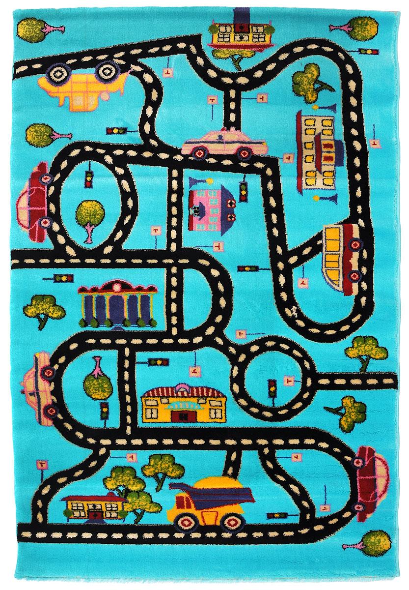 """Ковер детский Kamalak Tekstil """"Дороги"""", прямоугольный, 100 x 150 см УКД-2037"""