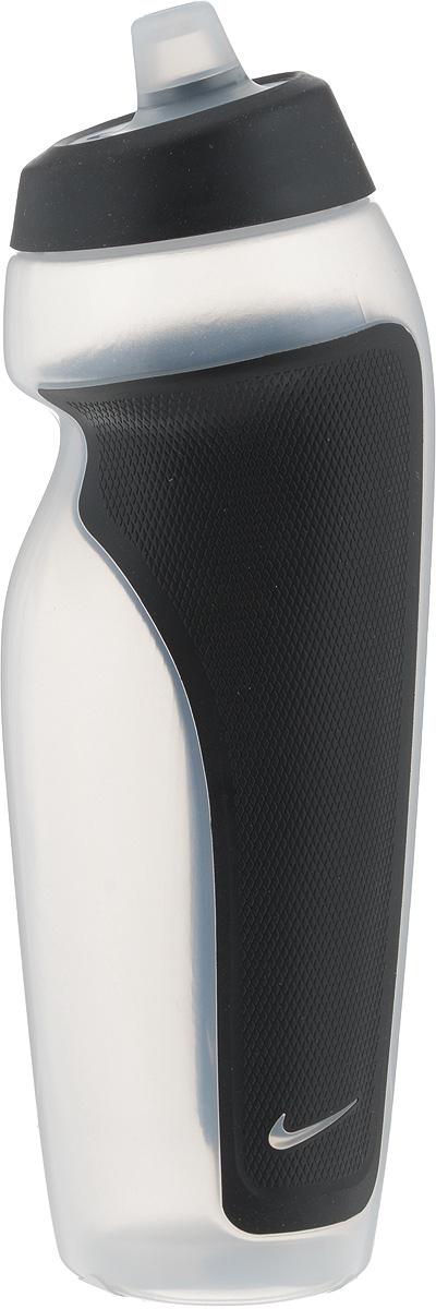 Бутылка для воды Nike Sport Water Bottle, цвет: черный, прозрачный, 600 мл9.341.009-901_черный, прозрачныйСтильная бутылка для воды Nike Sport Water Bottle, изготовленная из термопластика и силикона, оснащена крышкой, которая плотно и герметично закрывается. Бутылка имеет герметичный клапан, который не позволяет воде расплескиваться. Широкое отверстие позволяет удобно наливать коктейли и добавлять лед. Подходит для велосипедных держателей. Диаметр (по верхнему краю): 4 см. Высота: 23 см.