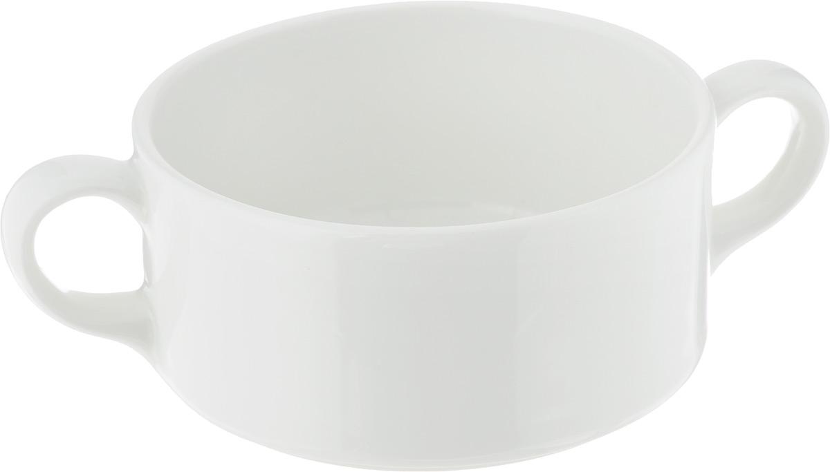 Бульонница Ariane Прайм, 300 млAPRARN27030Бульонница Ariane Прайм, изготовленная из высококачественного фарфора, оснащена двумя ручками для удобной переноски. Такая стильная бульонница украсит сервировку вашего стола и подчеркнет прекрасный вкус хозяина, а также станет отличным подарком. Можно мыть в посудомоечной машине и использовать в СВЧ. Диаметр бульонницы (по верхнему краю): 10,5 см. Высота бульонницы: 5 см. Ширина бульонницы (с учетом ручек): 15,5 см.