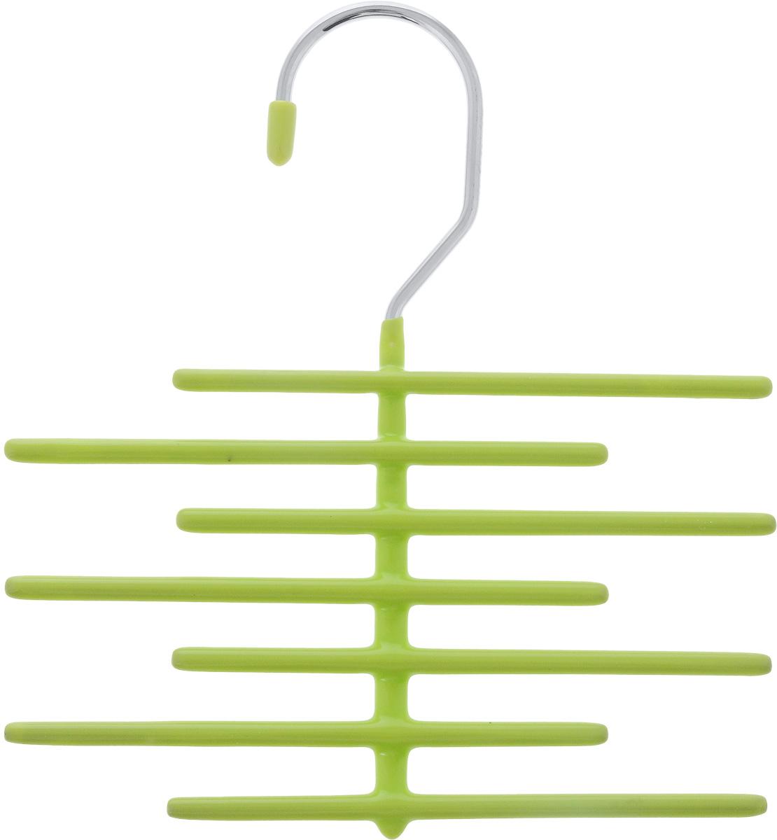 Вешалка для галстуков Attribute Home, цвет: салатовый, длина 18 смAHS861Вешалка для галстуков Attribute Home выполнена из качественной стали. Благодаря инновационному покрытию из ПВХ, вещи не соскальзывают с вешалки. Изделие содержит 7 перекладин для галстуков. Удобная вешалка Attribute Home позволит компактно и аккуратно хранить галстуки и другие аксессуары. Длина вешалки: 18 см. Длина перекладины: 14 см.