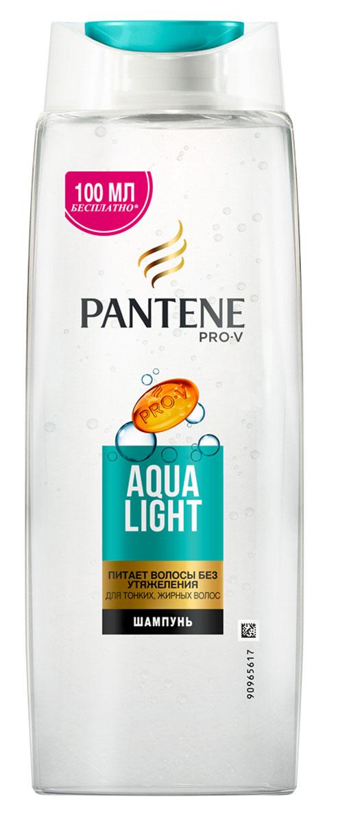 Pantene Pro-V Шампунь Aqua Light, для тонких волос, склонных к жирности, 600 мл81601074Благодаря своей легкой формуле шампунь Pantene Pro-V Шампунь Aqua Light оживляет и очищает волосы от корней до кончиков, а входящие в его состав укрепляющие вещества действуют на микроуровне, питая тонкие волосы и не утяжеляя их. Для наилучших результатов используйте с бальзамом- ополаскивателем и средствами по уходу Aqua Light.