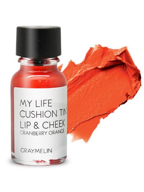 Graymelin, Тинт для губ и щек (cranberry orange), Cushion Tint Lip & Cheek8809435713132Легкий тинт для губ и скул с консистенцией эссенции от Graymelin, сохраняет цвет и сочность губ в течение длительного времени, придает румянец и здоровый цвет коже лица, активно увлажняет, питает и впитывается без растекания. Это декоративное и ухаживающее средство не оставляет на губах дискомфорта и жирного блеска, после нанесения не смазывается.
