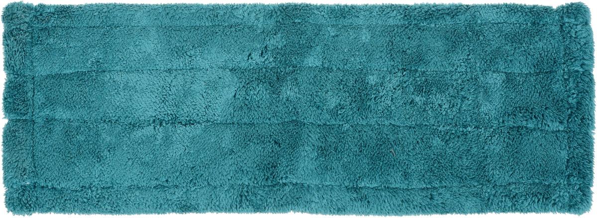 Насадка для швабры Youll love  Top Class, сменная, цвет бирюзовый, длина 40 см50491_бирюзовыйНасадка для швабры Youll love  Top Class изготовлена из микрофибры, обладающей уникальными абсорбирующими и очищающими свойствами. Насадка предназначена для сухой и влажной уборки помещений. Материал не царапает поверхности и отлично впитывает влагу. Насадка легко крепится, цепляясь войлочной изнаночной стороной к микрокрючкам на платформе швабры. Сменная насадка для швабры Youll love  Top Class станет незаменимой в хозяйстве. Размер насадки: 40 х 13,5 см.