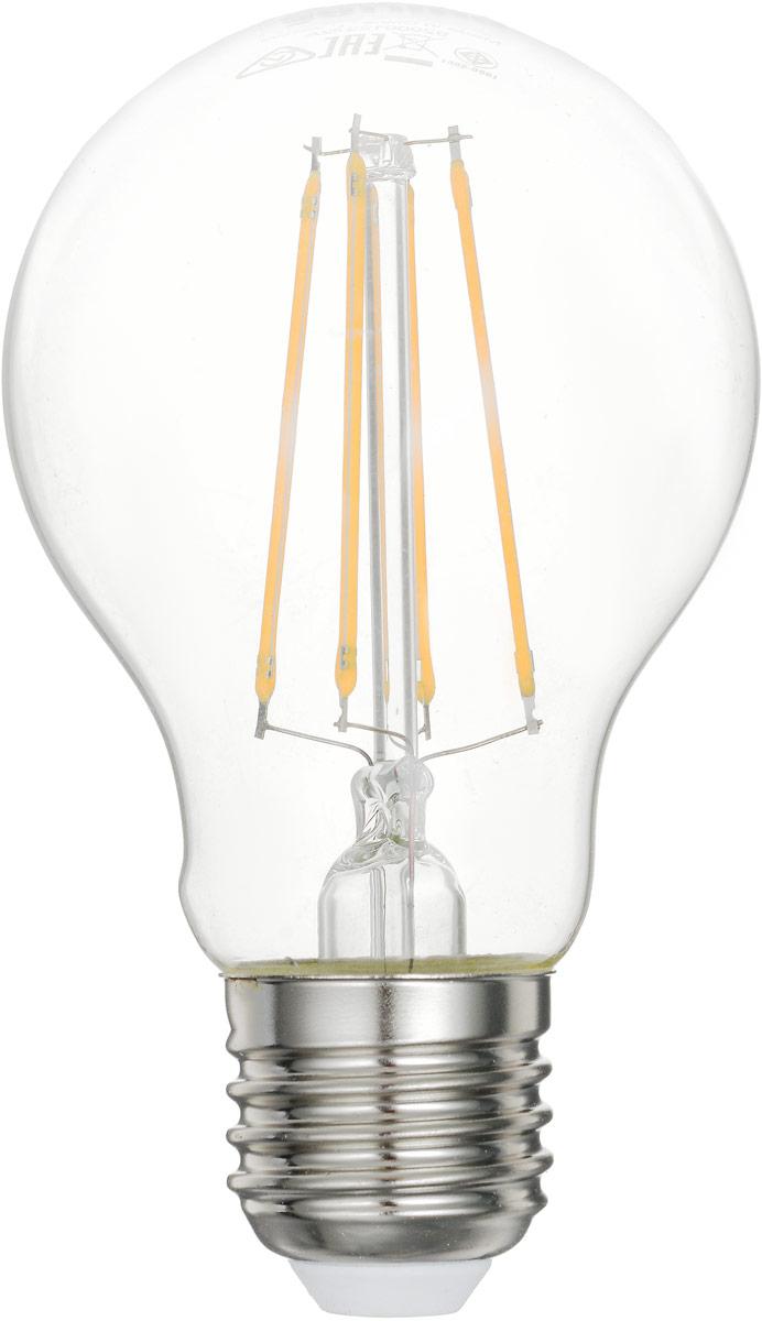 Лампа светодиодная Philips LED bulb, цоколь E27, 6W, 2700KЛампа LEDClassic 6-70W A60 E27 WW CL APRСовременные светодиодные лампы LED bulb экономичны, имеют долгий срок службы и мгновенно загораются, заполняя комнату светом. Лампа оригинальной формы и высокой яркости позволяет создать уютную и приятную обстановку в любой комнате вашего дома. Светодиодные лампы потребляют на 91% меньше электроэнергии, чем обычные лампы накаливания, излучая при этом привычный и приятный теплый свет. Срок службы светодиодной лампы LED bulb составляет до 15 000 часов, что соответствует общему сроку службы пятнадцати ламп накаливания. Благодаря чему менять лампы приходится значительно реже, что сокращает количество отходов. Напряжение: 220-240 В. Световой поток: 806 lm. Эквивалент мощности в ваттах: 70 Вт.