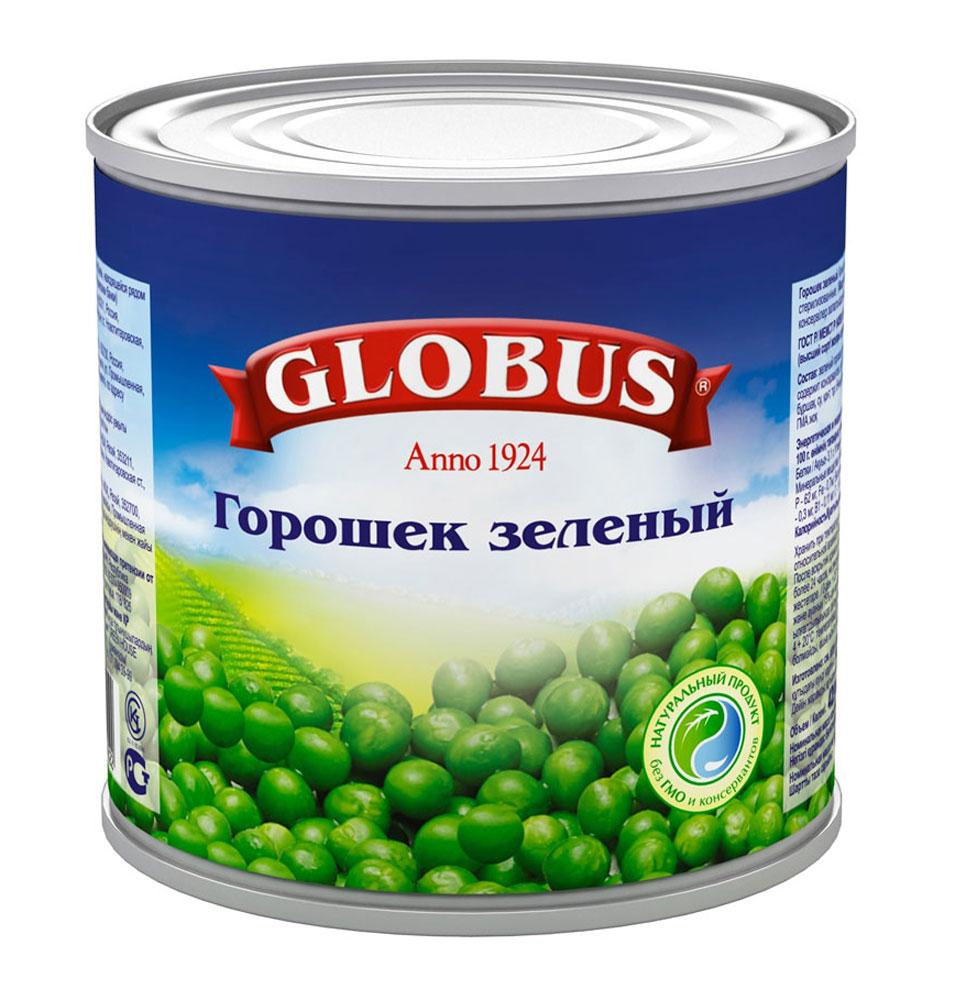 Globus зеленый горошек Нежный, 400 г4803Нежнейший и сладкий зеленый горошек непревзойденного качества тщательно отбирается, прежде чем попасть в банку.