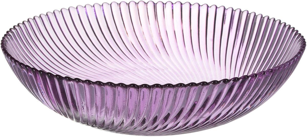 Тарелка NiNaGlass Альтера, цвет: сиреневый, диаметр 20,5 см83-068-ф200/h50 СИРТарелка NiNaGlass Альтера выполнена из высококачественного стекла и оформлена рельефной поверхностью. Тарелка прекрасно оформит праздничный стол и станет его неизменным атрибутом. Не рекомендуется использовать в микроволновой печи и мыть в посудомоечной машине.