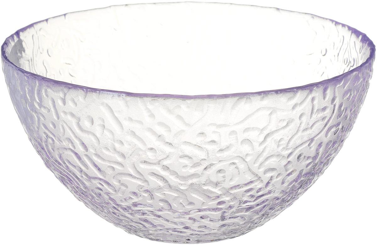 Салатник NiNaGlass Ажур, цвет: светло-сиреневый, диаметр 16 см83-041-ф160 ЛАВАНСалатник NiNaGlass Ажур выполнен из высококачественного стекла и имеет рельефную внешнюю поверхность. Такой салатник украсит сервировку вашего стола и подчеркнет прекрасный вкус хозяйки, а также станет отличным подарком. Диаметр салатника (по верхнему краю): 16 см. Высота салатника: 8,5 см.