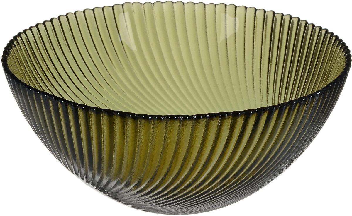 Салатник NiNaGlass Альтера, цвет: серо-зеленый, диаметр 20 см83-038-ф200 ДЫМСалатник NiNaGlass Альтера изготовлен из прочного стекла. Внешние стенки декорированы красивым рельефным узором. Он подойдет для сервировки стола, как для повседневных, так и для торжественных случаев. Диаметр салатника (по верхнему краю): 20 см. Высота салатника: 8,5 см.
