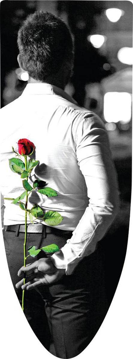 Чехол для гладильной доски Nika Мужчина с Розой, универсальный, 129 х 51 смЧП2_Мужчина с РозойЧехол для гладильной доски Nika Мужчина с Розой, универсальный, 129 х 51 см