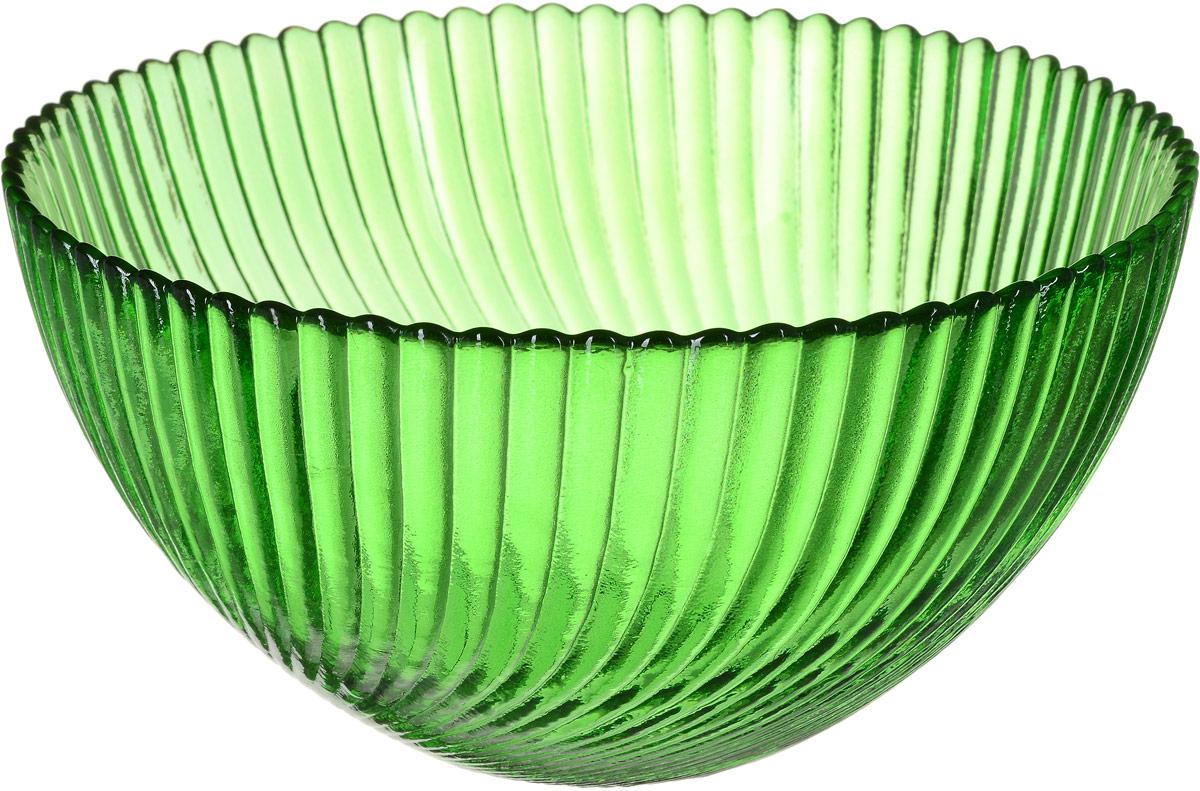 Салатник NiNaGlass Альтера, цвет: зеленый, диаметр 16 см83-037-Ф160 ЗЕЛСалатник NiNaGlass  Альтера выполнен из высококачественного стекла. Внешние стенки декорированы красивым рельефным узором. Салатник идеален для сервировки салатов, овощей, ягод, сухофруктов, гарниров и многого другого. Он отлично подойдет как для повседневных, так и для торжественных случаев. Такой салатник прекрасно впишется в интерьер вашей кухни и станет достойным дополнением к кухонному инвентарю. Диаметр салатника (по верхнему краю): 16 см. Высота стенки: 9 см.