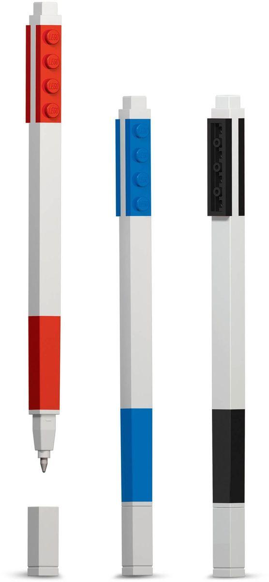 LEGO Набор гелевых ручек 3 шт 5151351513Набор гелевых ручек из уникальной коллекции канцелярских принадлежностей LEGO состоит из 3-х ручек с чернилами красного, чёрного и синего цветов. Ручка имеет пластиковый корпус с резиновой манжеткой, которая снижает напряжение руки. Ручка обеспечивает легкое и мягкое письмо, чернила быстро высыхают, не размазываются.