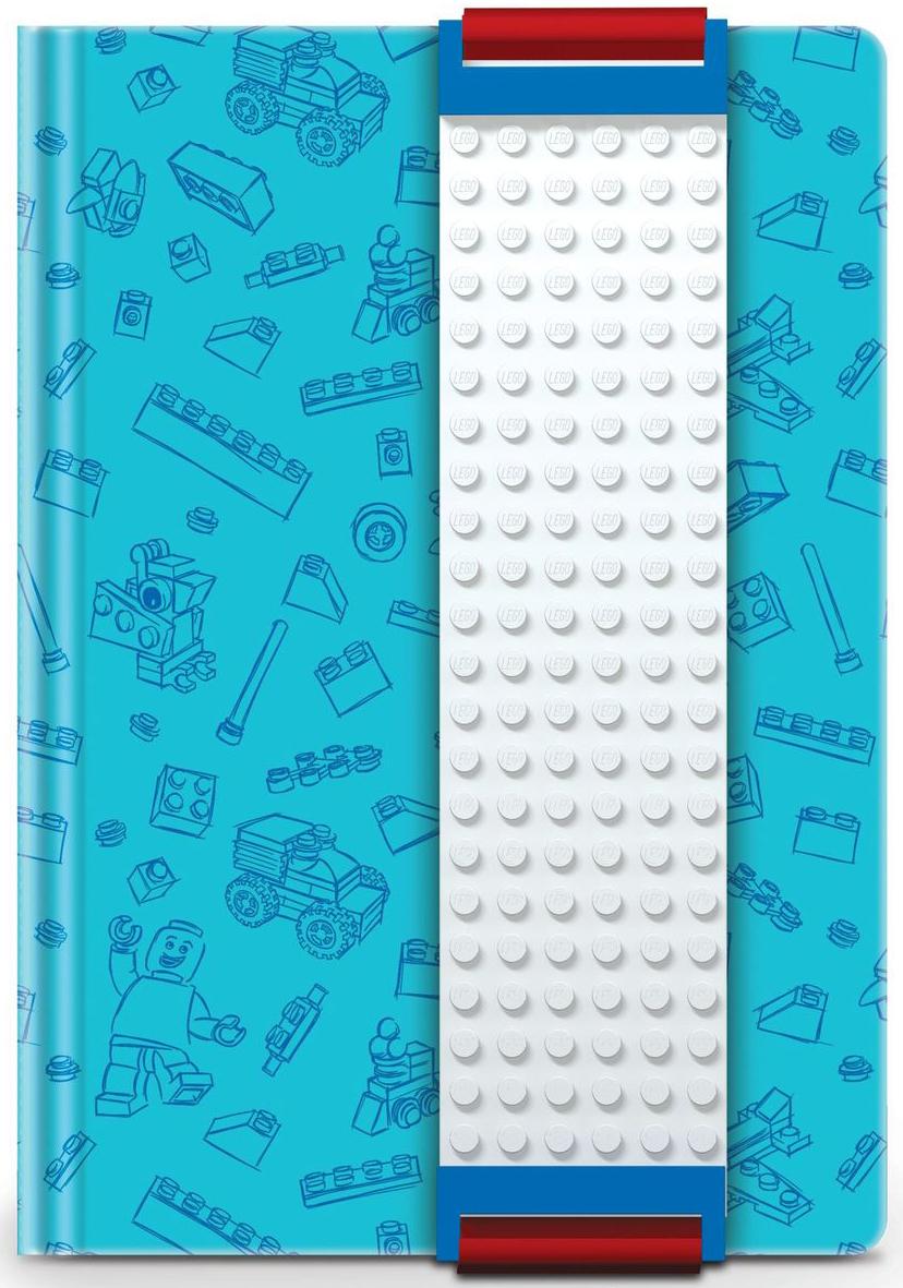 LEGO Записная книжка 96 листов в линейку с закладкой цвет голубой 5152351523Оригинальную книгу для записей LEGO можно использовать в качестве ежедневника, блокнота для рисования, написания сочинений или важных событий. Закладка поможет не только найти необходимую запись, а также хранить ручку, маркер или карандаш вместе, ведь все канцелярские принадлежности скрепляются друг с другом по принципу конструкторов LEGO. Внутренний блок состоит из 96 листов в линейку.