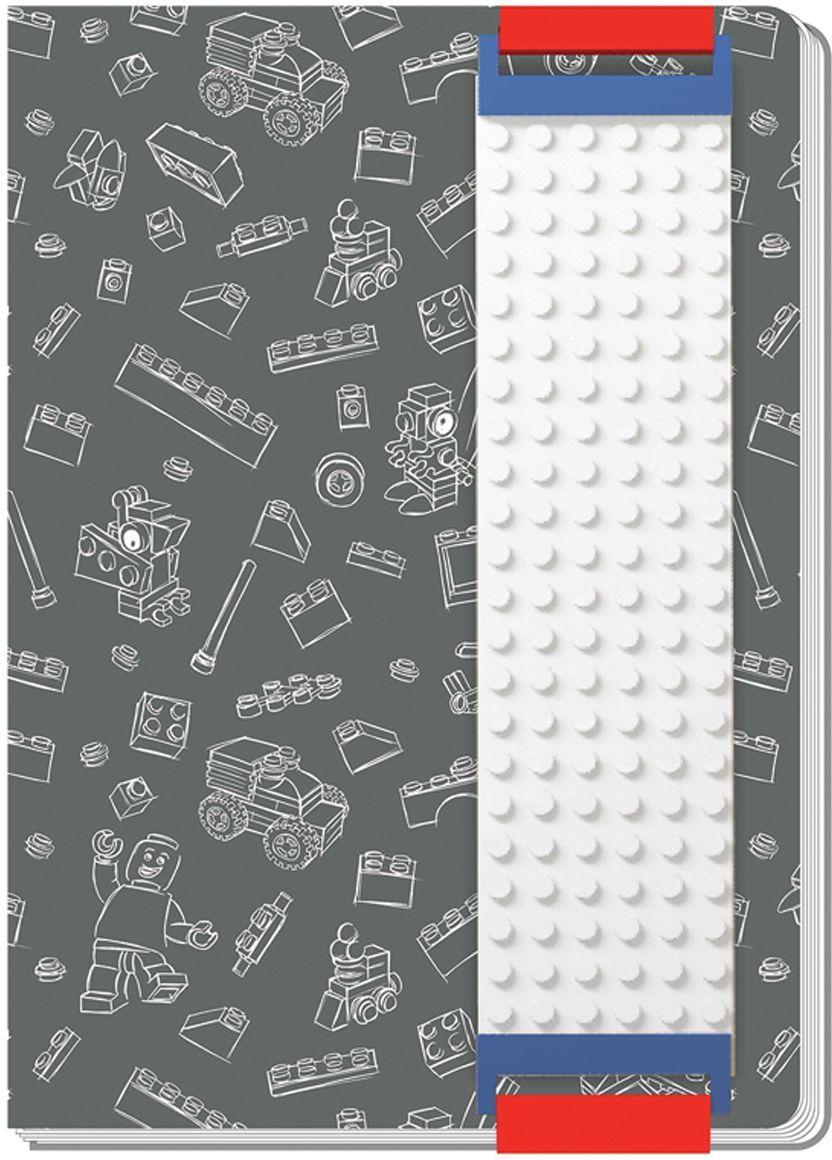 LEGO Записная книжка 96 листов в линейку с закладкой цвет серый 5152451524Оригинальную книгу для записей LEGO можно использовать в качестве ежедневника, блокнота для рисования, написания сочинений или важных событий. Закладка поможет не только найти необходимую запись, а также хранить ручку, маркер или карандаш вместе, ведь все канцелярские принадлежности скрепляются друг с другом по принципу конструкторов LEGO. Внутренний блок состоит из 96 листов в линейку.