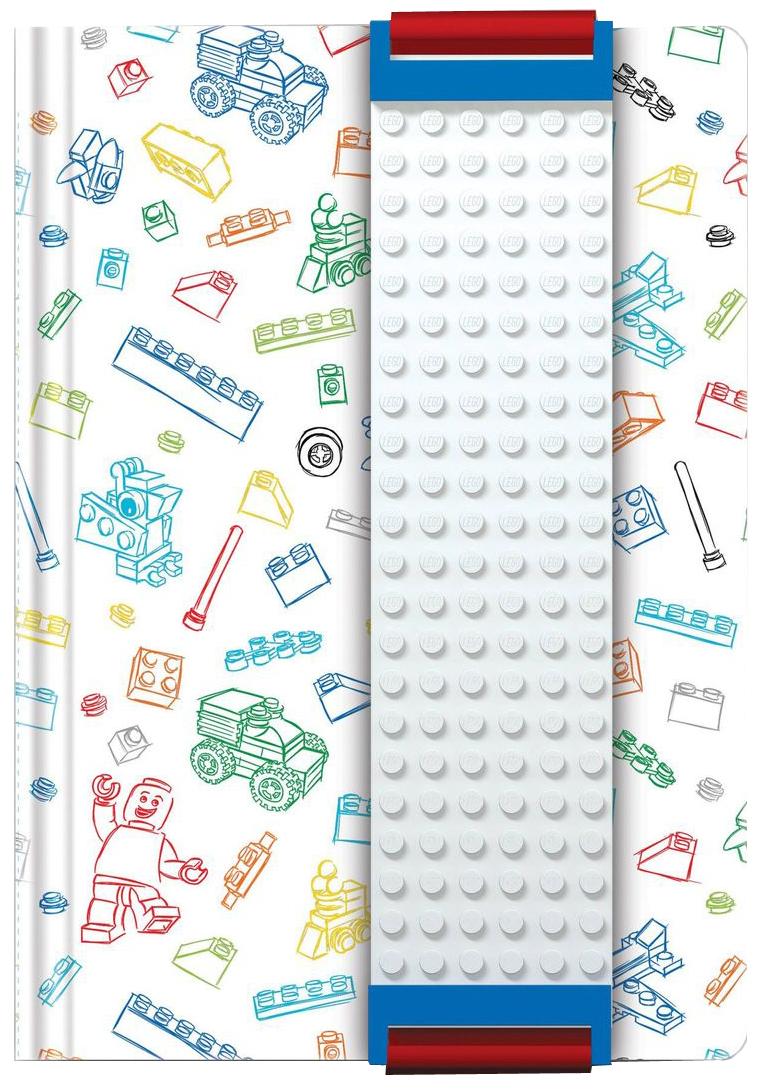 LEGO Записная книжка 96 листов в линейку с закладкой цвет белый 5152551525Оригинальную книгу для записей LEGO можно использовать в качестве ежедневника, блокнота для рисования, написания сочинений или важных событий. Закладка поможет не только найти необходимую запись, а также хранить ручку, маркер или карандаш вместе, ведь все канцелярские принадлежности скрепляются друг с другом по принципу конструкторов LEGO. Внутренний блок состоит из 96 листов в линейку.