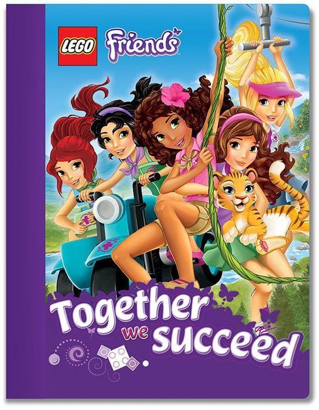LEGO Friends Тетрадь 100 листов в линейку 5160451604Тетрадь в линейку предназначена для школьных занятий и просто для записей. Стильный дизайн обложки, сочетающий различные цвета и изображения любимых персонажей делает тетрадь подходящей для учениц начальной и средней школы. Плотная обложка из высококачественного картона не даст помяться страничкам.