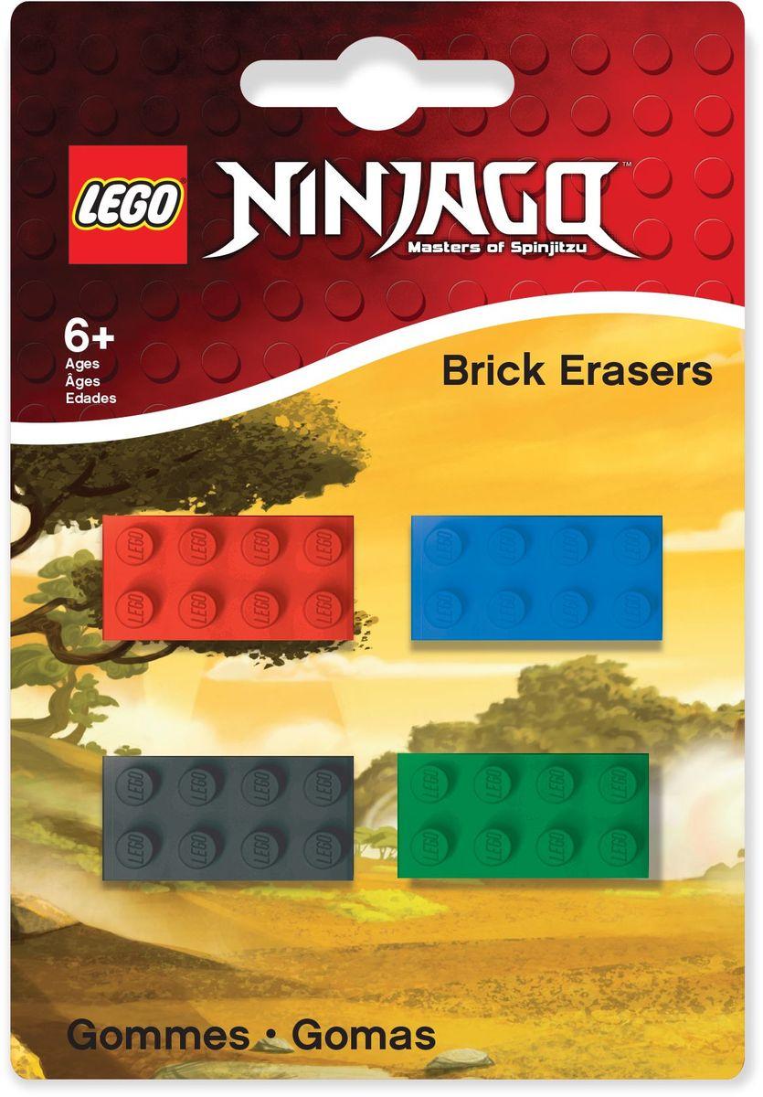 LEGO Ninjago Ластик 4 шт 5163251632Ластик LEGO Ninjago подходит для стирания графитовых рисунков и надписей, не оставляет разводов, не царапает поверхность. Набор состоит из 4 ластиков, выполненных в форме классического кирпичика LEGO.