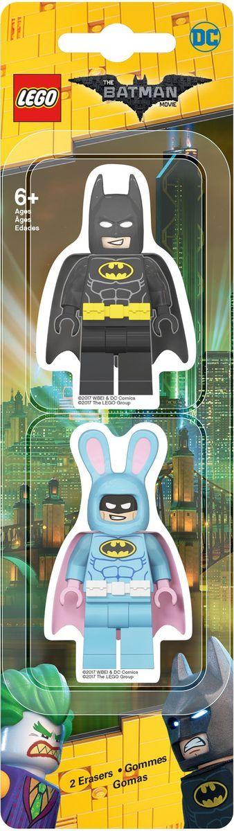 LEGO Batman Movie Ластик 2 шт 5175751757Ластик LEGO Batman Movie подходит для стирания графитовых рисунков и надписей, не оставляет разводов, не царапает поверхность. Такие ластики станут оригинальным подарком для всех поклонников LEGO! В наборе 2 фигурных ластика.