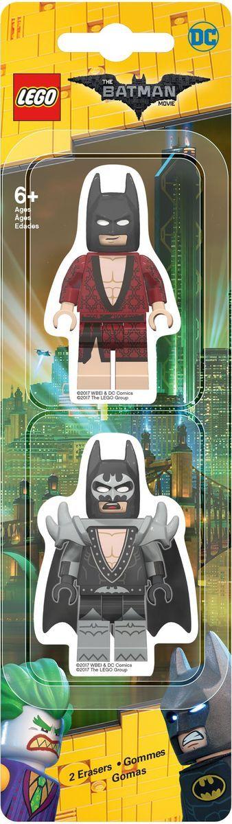 LEGO Batman Movie Ластик 2 шт 5175851758Ластик LEGO Batman Movie подходит для стирания графитовых рисунков и надписей, не оставляет разводов, не царапает поверхность. Такие ластики станут оригинальным подарком для всех поклонников LEGO! В наборе 2 фигурных ластика.