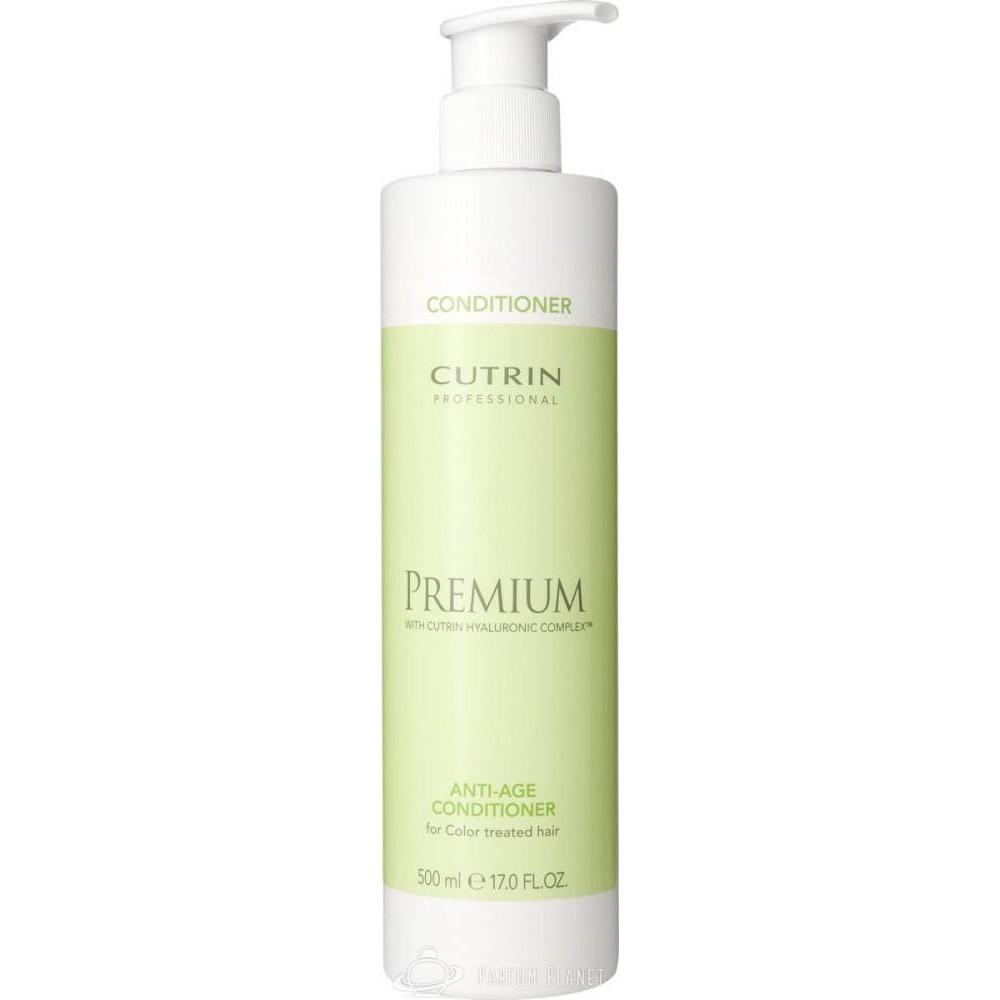 Cutrin Бальзам-кондиционер Премиум-Омоложение для зрелых окрашенных волос Premium Anti-age Conditioner, 500 млCUC05-12927Предназначен для особого ухода за зрелыми волосами. Бальзам восстанавливает, увлажняет и насыщает питательными веществами поврежденную структуру. Продукт оказывает кондиционирующее действие, что приводит к снятию статического электричества и увеличению послушности волос. В формуле Cutrin Premium Anti-age сonditioner содержится комплекс Cutrin Hyaluronic Complex™ для восстановления гидробаланса, возвращения энергии, силы, сияния, тонуса и эластичности, осуществления эффективного ухода за волосами и предотвращения потускнения цвета. Эффективность результата гарантируют входящие в состав комплекса гиалуроновая кислота, миндальное масло, пантенол, пшеничный протеин, фитостволовые клетки яблока и УФ-фильтр.